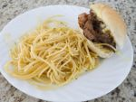 Rib Eye Sandwich and pasta by YoLoL