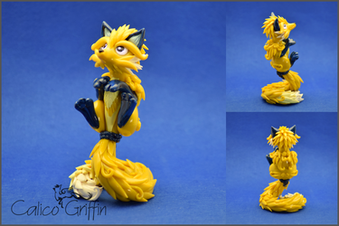 Fox- polymer clay by CalicoGriffin