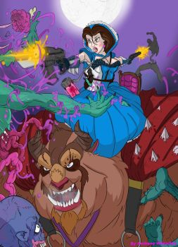 Beauty and the Beast....and Zombies by SuperWheatley