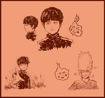 Mob Psycho 100 doodle by PhinPhan