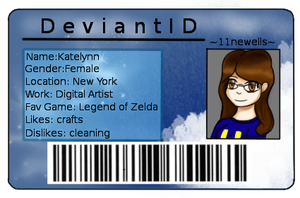 custom deviant I.D for sell Example by 11newells