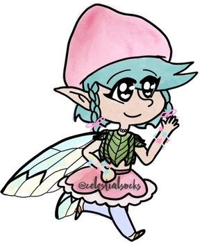 { mushroom fairy } [$0.75 USD/75 pts. OPEN!] by celestialsocks