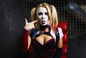 Harley Quinn cosplay by CaptainIrachka