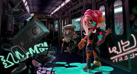 Splatoon 2 - Octo Expansion: Promo Art Background by ZanaGB