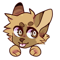 Ych Chibi Head For Yudevils by TheWildWolfy