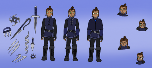 Silence ~Sicaurs Character Sheet. by QuillWrighter