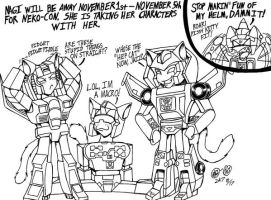 Transformers NekoCon Bound by Nagi-Oki