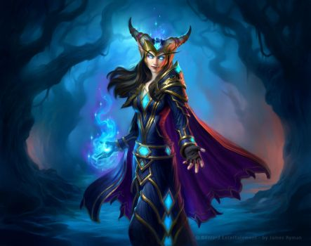 Countess Ashmore for Hearthstone: The Witchwood by namesjames