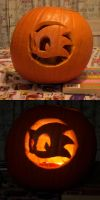 Sonic Team Logo Pumpkin by mjponso