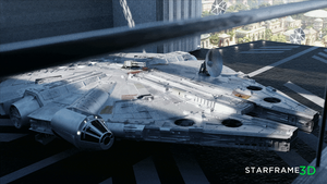 Millennium Falcon - Base on Naboo [Animation] by Starframe3D