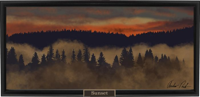 Forest Sunset by Apoulo