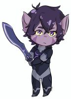 Purple boy and his sword by EvilCrayonsOfDoom