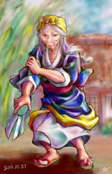 Old woman of anger by miminaga-motono