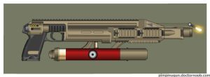 Wasteland Arms Portable Flamethrower by Direrain