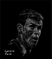 Gareth Bale in Ngawor Drawing by viqh