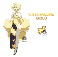 (Comission) Crystalline Gold by FlareViper