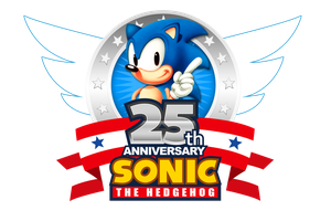 Sonic's 25th Anniversary 2016 Logo (Updated) by NuryRush