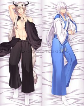 Dakimakura COM: Ezelleon and Ouji by Riikochan-Artworks