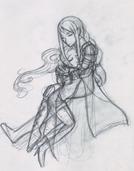 Terra and Agrias by xellie