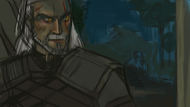 witcher Geralt by Sipr0na