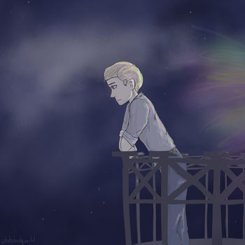Introverted | APH Germany Speedpaint Below by whatalonelyworld