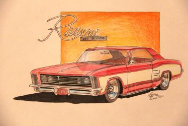 1964 Riviera Drawing by prestonthecarartist