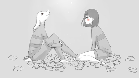Chara_and_Asriel by Moriemdi