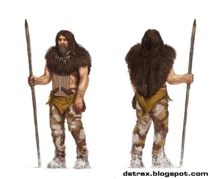 caveman bear hunter by DStraX