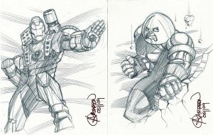 War Machine Juggernaut Sketch by artstudio