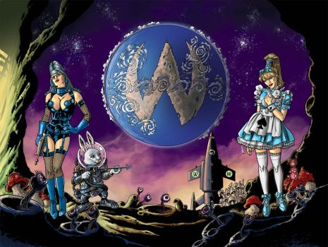 Little Alice in Wonderland 1 gardes Q by FTacito