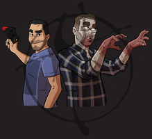 Podcast commission characters by ZombieRoomie