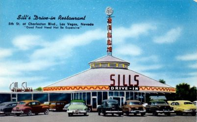 Vintage Nevada - Drive-In Restaurant by Yesterdays-Paper
