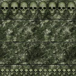 Green Stone Wall with Skulls 01 Remake by Hoover1979