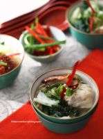 Chicken Noodle Wonton Soup by theresahelmer