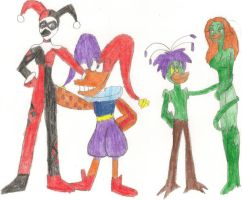 The Jesters and the Plants by AnimatedTigerGirl