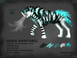 Saber Tooth Adoptable (CLOSED) by Yourtoast