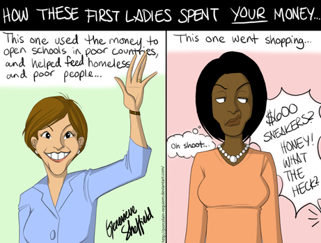 First Ladies... and Money... by Porcelain-Requiem