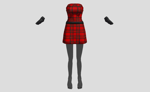MMD plaid Punk set by amiamy111