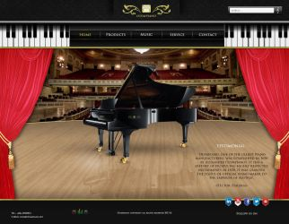 Olympiano Website Interface by graphomet
