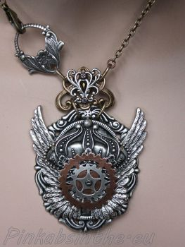Winged chest piece tattoo necklace II by Pinkabsinthe