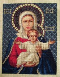 Virgin Mary and Baby Jesus by ToveAnita