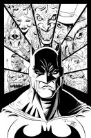Batman and Villains Ink by SWAVE18