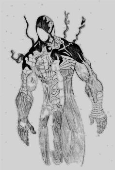 Spider Man Symbiotic fusion (unfinished) by Rick85xx