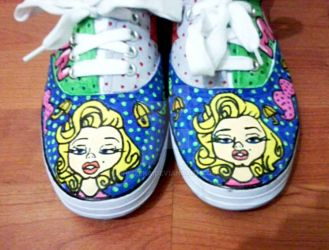 marilyn monroe custom shoes by ehlizeka