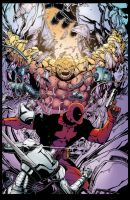 Deadpool and Thing color 2 by PeterPalmiotti