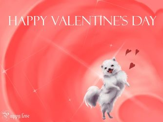 Puppy Love Valentine's Day Cards by ForthSanity
