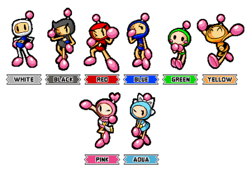 Pixel Bomberman R: SA3 Character Select Style by CaitlinTheStarGirl