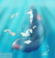 Into the blue - AT (Siren - Skywolffang) by Bai2u-Art