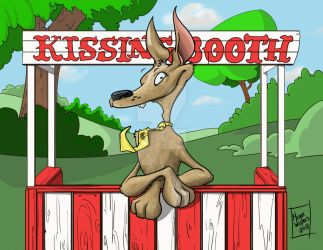 Kissing booth by maggiepeggie