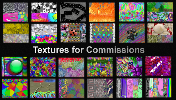 Textures for Commissions by SymzTew